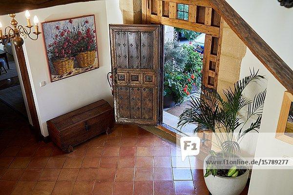 Entrance door  Typical Basque farmhouse  Event Celebration  Hondarribia  Gipuzkoa  Spain