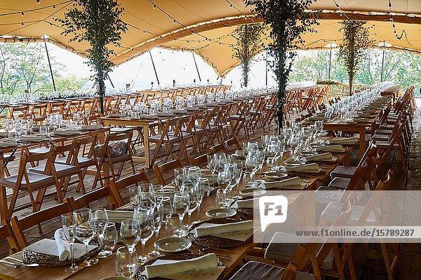 Dining room  Tense tent  Typical Basque farmhouse  Event Celebration  Wedding  Hondarribia  Gipuzkoa  Spain