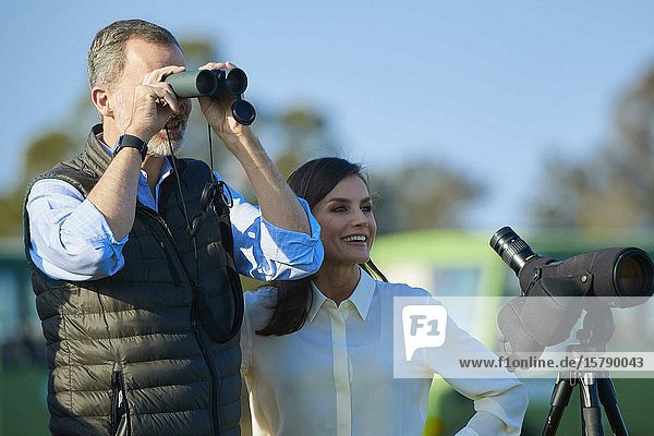 King Felipe VI of Spain  Queen Letizia of Spain visit Donana National Park on February 14  2020 in Spain