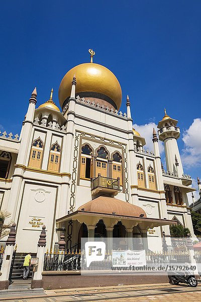 Masjid Sultan mosque on Arab Street in the Malay Heritage District  Singapore  Republic of Singapore.