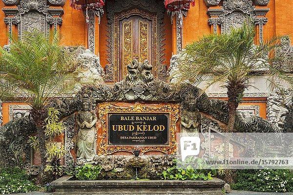 Balai Banjar Ubud Kelod temple  Ubud  Bali  Indonesia.