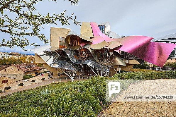 The City of Wine  Marques de Riscal winery  building by Frank O. Gehry  Elciego  Alava  Rioja Alavesa  Basque Country  Spain  Europe