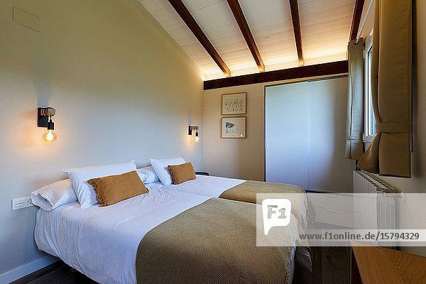 Bedroom  Apartment in rural house  Deba  Gipuzkoa  Basque Country  Spain  Europe