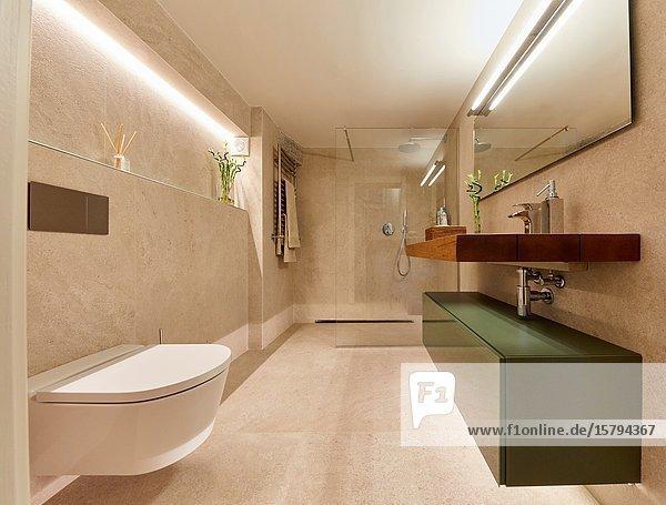 Bathroom  Family house  Villa  Donostia  San Sebastian  Gipuzkoa  Basque Country  Spain  Europe