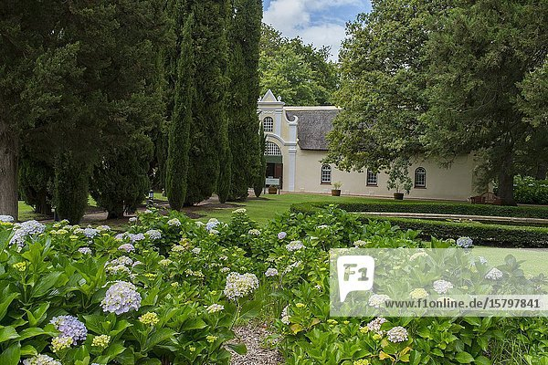 The garden at Vergelegen  a historic wine estate in Somerset West  in the Western Cape province of South Africa near Cape Town.