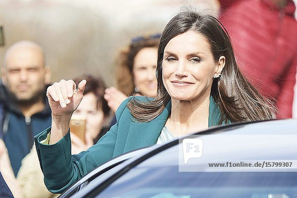 Queen Letizia of Spain attends the Proclamation of the winner of the '2020 Princess of Girona Foundation' Social category at Agora sociocultural center on February 28  2020 in A Coruna  Spain