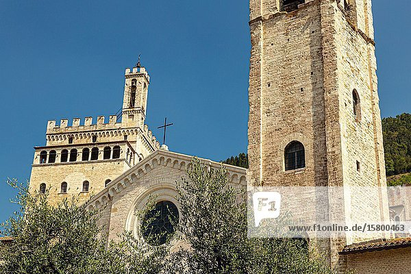 Photos of the beautiful medieval streets and houses of the Umbrian towns (Italy).