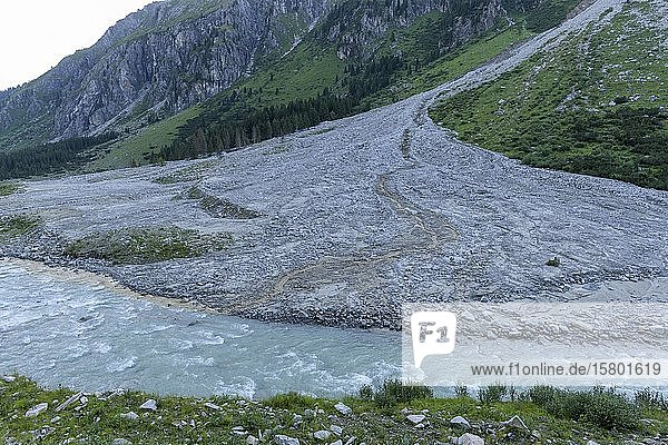 Großer Felssturz  NP Hohe Tauern  Obersulzbachtal  Salzburg  Österreich  Europa