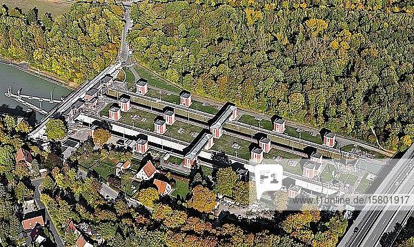 Schleuse Anderten oder Hindenburgschleuse  Mittellandkanal  Industriedenkmal  Hannover  Niedersachsen  Deutschland  Europa