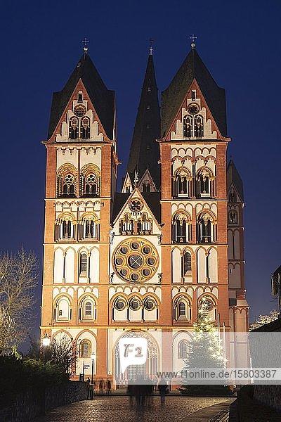 Limburger Dom  Dom St. Georg  Nachtaufnahme  Limburg a. d. Lahn  Hessen  Deutschland  Europa