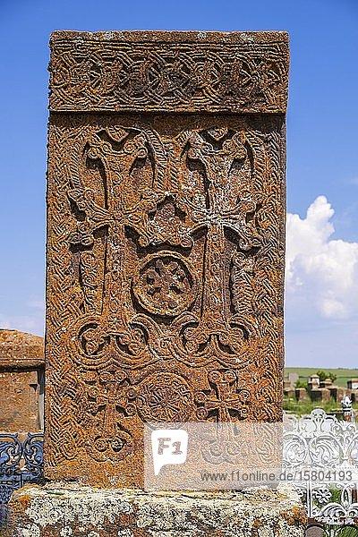 Friedhof mit Kreuzsteinen  Noratus  Gegharkhunik  Armenien  Asien