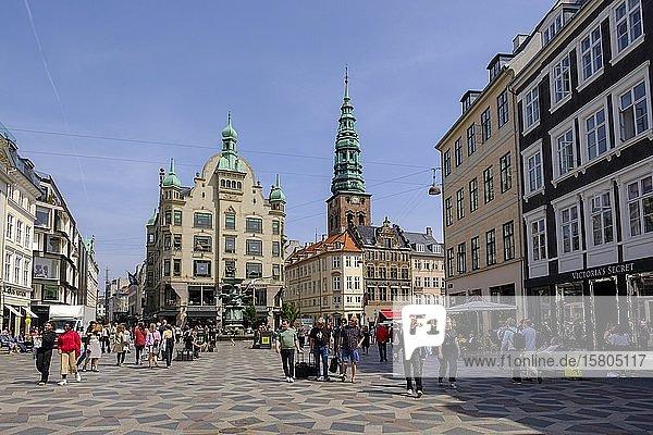 Amager Platz  Fußgängerzone Stroget  Kopenhagen  Dänemark  Europa