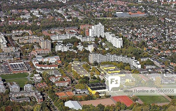 Stadtteil Roderbruch  Großwohnsiedlung  Integrierte Gesamtschule  Groß-Buchholz  Hannover  Niedersachsen  Deutschland  Europa