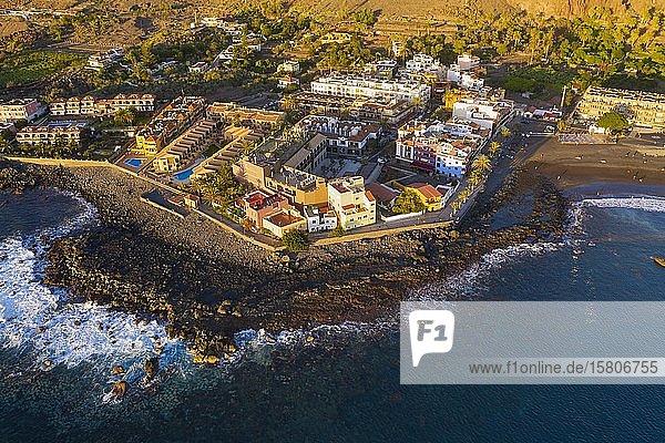 La Playa  Valle Gran Rey  Luftbild  La Gomera  Kanaren  Spanien  Europa