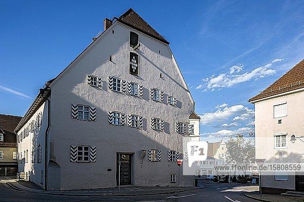 Historisches Rathaus  Altstadt  Ebersberg  Oberbayern  Bayern  Deutschland  Europa