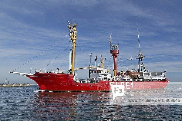 Feuerschiff Elbe 1 vor Helgoland  Schleswig-Holstein  Deutschland  Europa