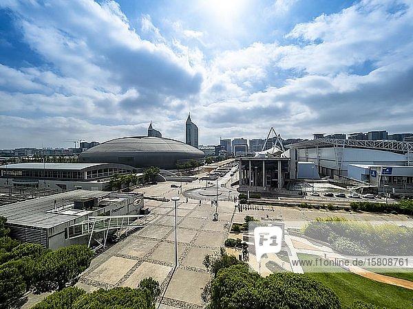 Einkaufszentrum Centro Vasco da Gama am Bahnhof Oriente  mit Altice Arena  Garo do Oriente  Lissabon  Portugal  Europa