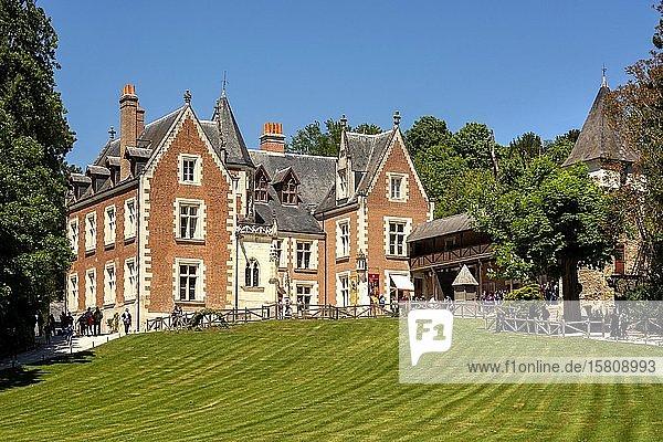 Clos Luce manor house  last home of Leonardo da Vinci  town of Amboise  Indre-et-Loire Department  Centre-Val de Loire  France  Europe
