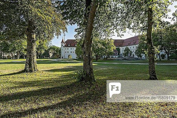 Innenhof mit Schloss der Renaissance Festung Wülzburg  Weißenburg in Bayern  Altmühltal  Mittelfranken  Franken  Bayern  Deutschland  Europa