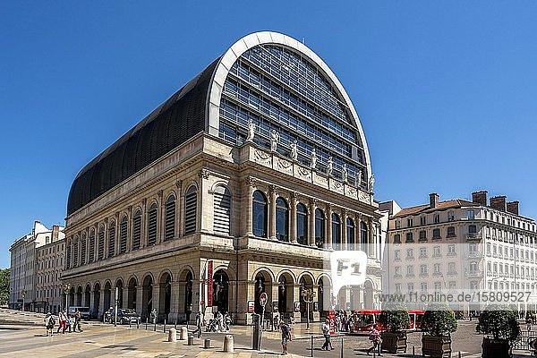 Opera of Lyon redesigned by architect Jean Nouvel  Lyon 1e arr  Rhone department  Auvergne-Rhone-Alpes  France  Europe
