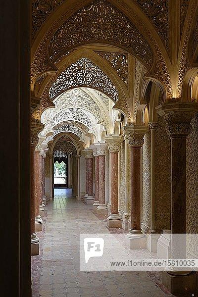Palacio de Monserrate  Korridor  Innenansicht  Sintra  Lisboa  Portugal  Europa