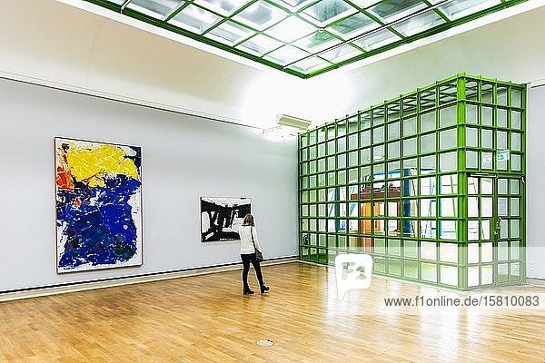 Neue Staatsgalerie  Innenaufnahme  Architekt James Stirling  Stuttgart  Baden-Württemberg  Deutschland  Europa