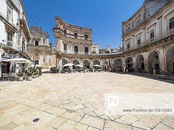 Piazza Maria Immacolata  Basilica di San Martino  Martina Franca  Valle d'Itria  Provinz Tarent  Apulien  Italien  Europa
