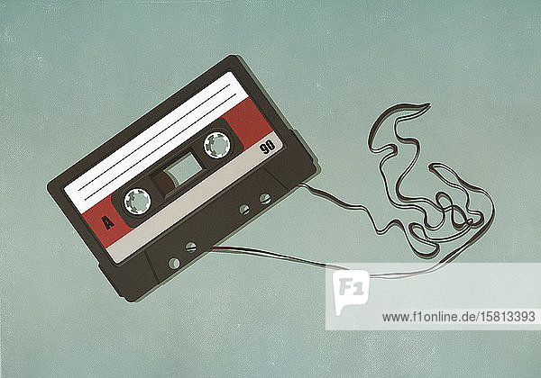 Pulled cassette tape