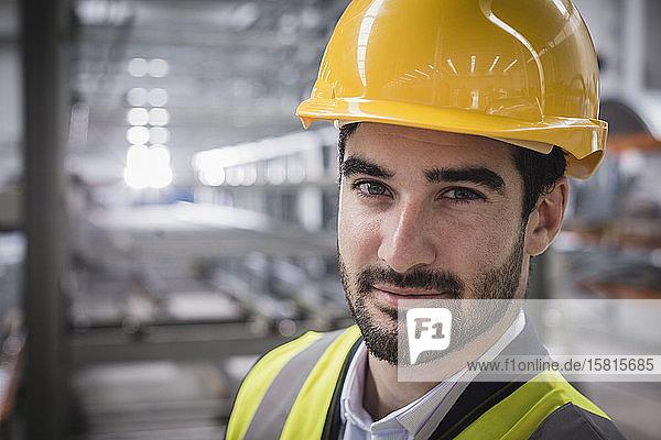 Portrait confident male supervisor in factory Portrait confident male supervisor in factory