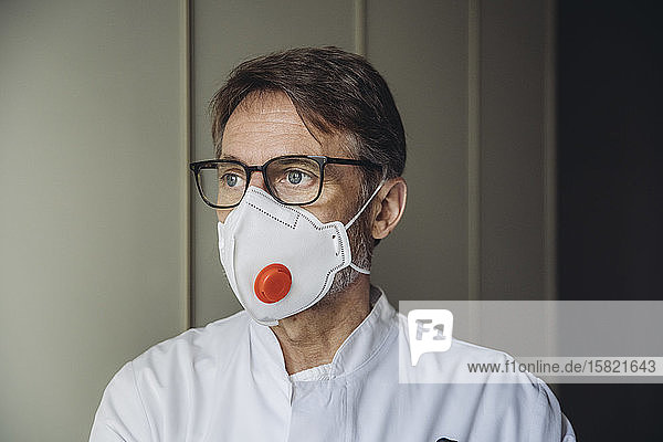 Portrait of doctor  wearing protective mask