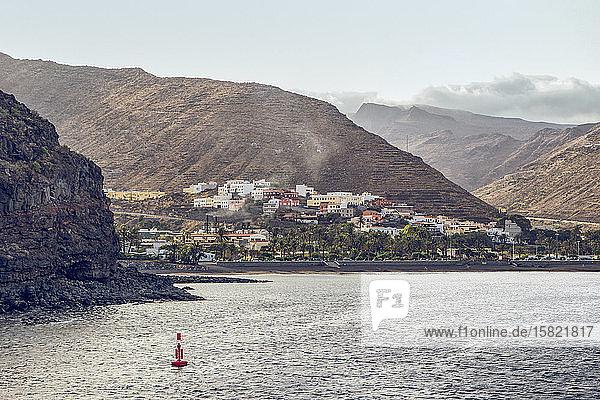 Blick auf San Sebastian  La Gomera  Spanien
