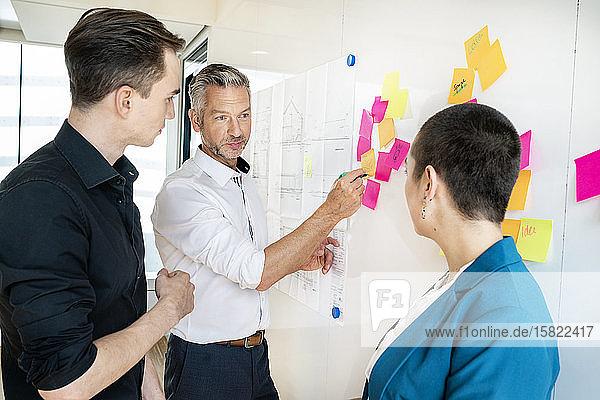 Team von Geschäftsleuten beim Brainstorming im Amt