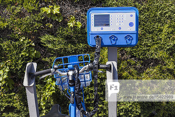 France  Alpes-Maritimes  Cagnes-sur-Mer  Bicycle renting station