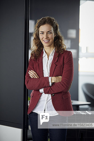 Portait of smiling businesswoman in office