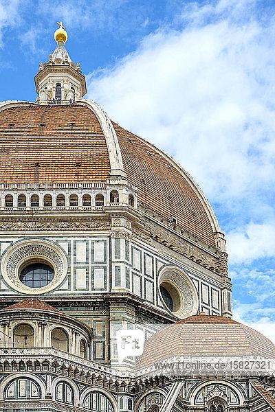 Giottos Campanile in der Kathedrale von Florenz (Duomo di Firenze)  Florenz (Firenze)  Toskana  Italien