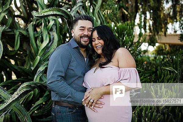 Mid Thirties Couple Maternity Desert Gardens