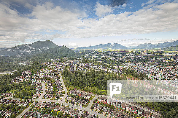 Luftaufnahme von Chilliwack  Britisch-Kolumbien