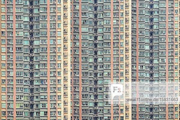 Apartment block towers in Tseung Kwan O  Hong Kong