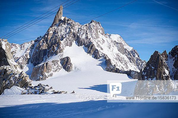 Skitouren vor der Dent du Geant