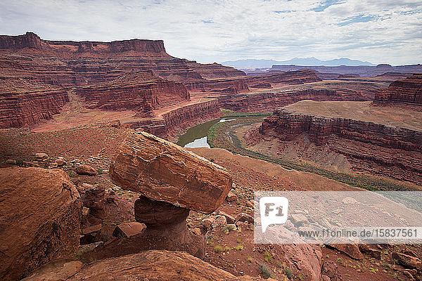 Ausgleichendes Gestein & Colorado River Canyonlands National Park