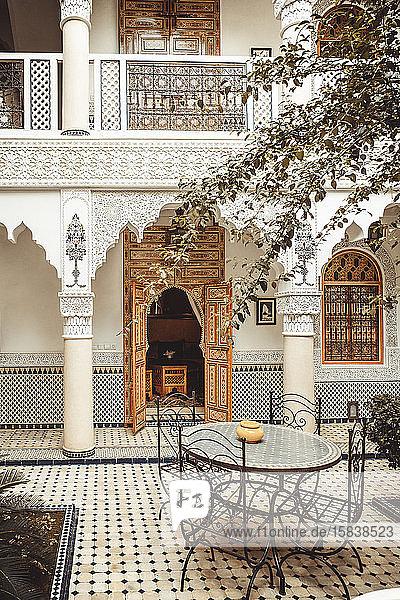 Riad-Detail Interieur in Marrakesch