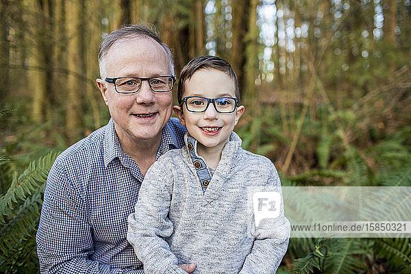 Portrait of Grandpa and grandson.