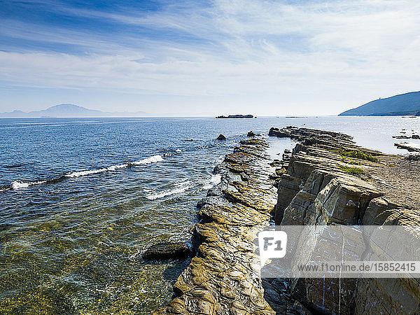 Strait of Gibraltar from Algeciras  Cadiz  Spain