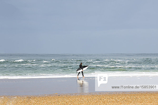 Surfing the world renowned beaches of Hossegor France