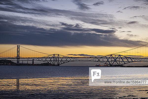 Forth Bridge  UNESCO World Heritage Site  Queensbury  Scotland  United Kingdom  Europe