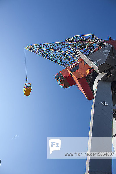 Crane in harbour  Rotterdam  The Netherlands  Europe