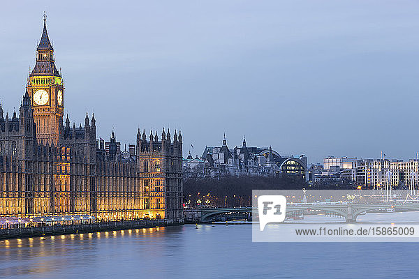 Houses of Parliament  UNESCO World Heritage Site  Westminster  London  England  United Kingdom  Europe
