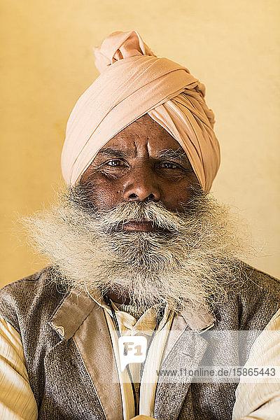 Man with beard  Mumbai  India  Asia