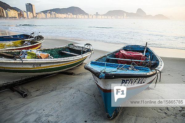 Copacabana Beach  Rio de Janeiro  Brazil  South America