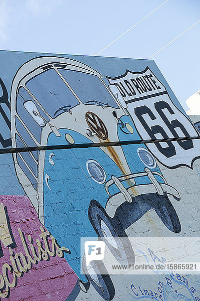 Mural on Route 66  Kingman  Arizona  United States of America  North America